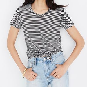 Madewell Knot-Front Tee in Stripe